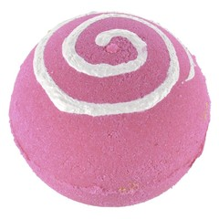 Treets Bath ball pink swirl (1 stuks)