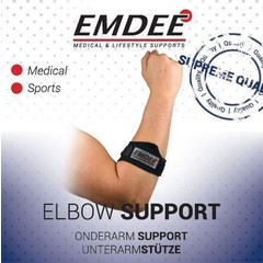 Emdee Tennis golf arm supportband zwart (1 stuks)