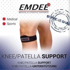 Emdee Knie patella supportband zwart (1 stuks)