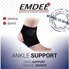 Emdee Enkel supportband ondersteunend zwart (1 stuks)