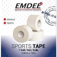 Emdee Sport tape 3.8 cm x 10 m wit (1 stuks)