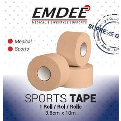 Emdee Sport tape 3.8 cm x 10 m huidkleur (1 stuks)