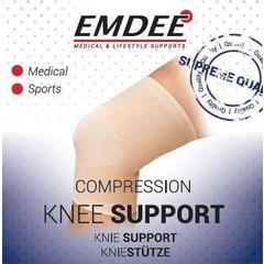 Emdee Elastische ondersteuning knie huidkleur maat L (1 stuks)