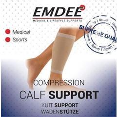 Emdee Elastische ondersteuning kuit huidkleur maat L (1 stuks)