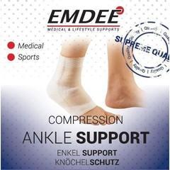 Emdee Elastische ondersteuning enkel huidkleur Maat S (1 stuks)