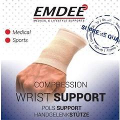 Emdee Elastische ondersteuning pols huidkleur maat L (1 stuks)