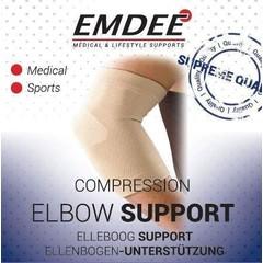 Emdee Elastische ondersteuning elleboog huidkleur maat L (1 stuks)