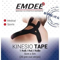 Emdee Kinesio tape zwart pre cut (1 stuks)