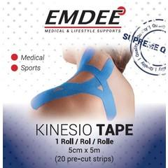 Emdee Kinesio tape blauw pre cut (1 stuks)