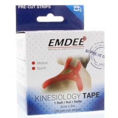 Emdee Kinesio tape rood (20 stuks)