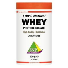SNP Whey proteine isolate 100% natural (900 gram)
