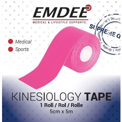Emdee Kinesio tape roze non cut (1 rol)