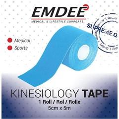 Emdee Kinesio tape licht blauw non cut (1 rol)