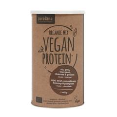Purasana Vegan rijst erwt zonnebl pomp hennep proteine mix (400 gram)
