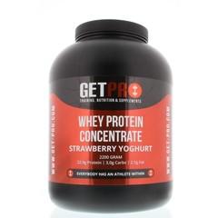 Getpro Whey protein concentrate strawberry yoghurt (2200 gram)