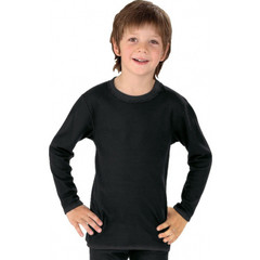 Best4Body Verbandshirt kind zwart lange mouw 122-128 (1 stuks)