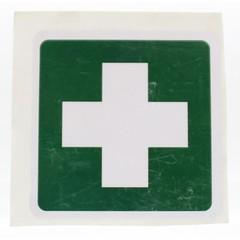 Heka Sticker groen wit kruis (1 stuks)