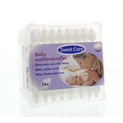 Sweetcare Wattenstaafjes baby (56 stuks)