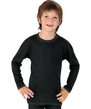 Best4Body Best4Body Verbandshirt kind zwart lange mouw 152 (1 stuks)