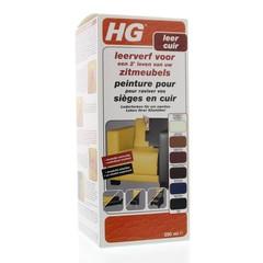 HG Leerverf zitmeubel zwart (250 ml)