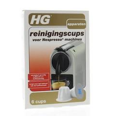 HG Reinigingscups Nespresso machine (6 stuks)