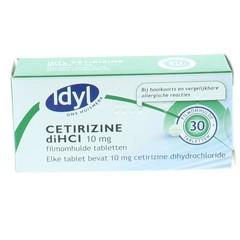 Idyl Cetirizine di HCl 10 mg (30 tabletten)