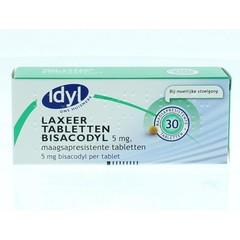 Idyl Bisacodyl laxeertabletten 5 mg (30 tabletten)