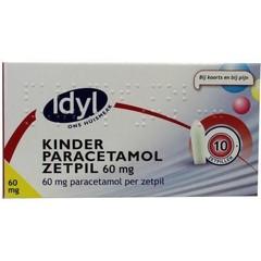 Idyl Paracetamol kind 60 mg (10 zetpillen)