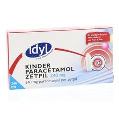 Idyl Paracetamol kind 240 mg (10 zetpillen)