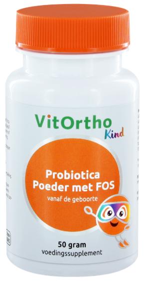 VitOrtho VitOrtho Probiotica junior poeder met FOS (kind) (50 gr)
