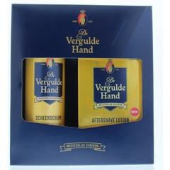 Vergulde Hand Geschenkverpakking scheerschuim (1 set)