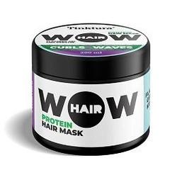 Tinktura Wow curls & waves hair mask keratin & flaxseed gel (250 ml)