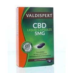 Valdispert CBD 5 mg liquid caps (30 stuks)