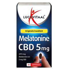 Lucovitaal Melatonine CBD 5 mg (30 capsules)