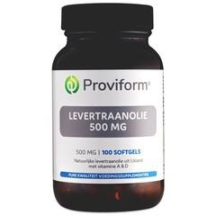 Proviform Levertraanolie 500 mg (100 softgels)
