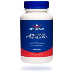 Orthovitaal Levertraan Vitamine A en D (60 softgels)