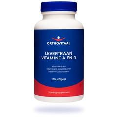 Orthovitaal Levertraan Vitamine A en D (120 softgels)