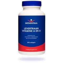 Orthovitaal Levertraan Vitamine A en D (200 softgels)