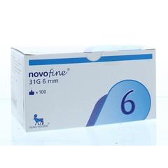Novo Nordisk Novofine naalden 0.25 x 6 mm 31G (100 stuks)