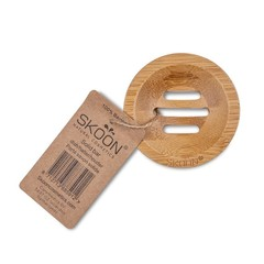 Skoon Bamboe solid bar houder rond (1 stuks)