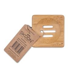 Skoon Bamboe solid bar houder vierkant (1 stuks)