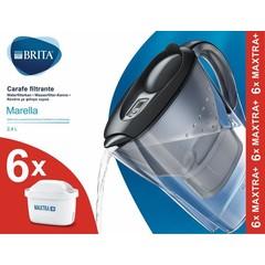 Brita Waterfilterbundel Marella cool graph + 6 filters (1 stuks)