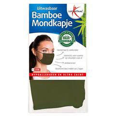 Lucovitaal Mondkapje bamboe groen (1 stuks)