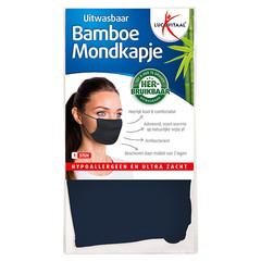 Lucovitaal Mondkapje bamboe blauw (1 stuks)