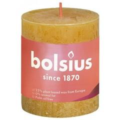 Bolsius Rustiek stompkaars shine 80/68 honeycomb yellow (1 stuks)