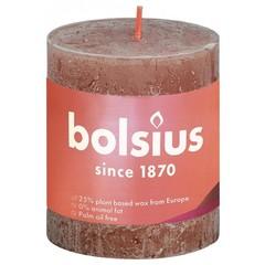 Bolsius Rustiek stompkaars shine 80/68 suede brown (1 stuks)