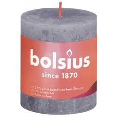 Bolsius Rustiek stompkaars shine 80/68 frosted lavender (1 stuks)