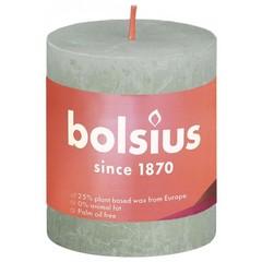 Bolsius Rustiek stompkaars shine 80/68 foggy green (1 stuks)