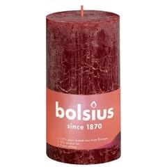 Bolsius Rustiek stompkaars shine 130/68 velvet red (1 stuks)