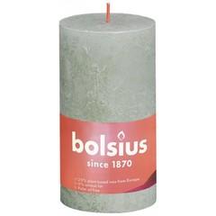 Bolsius Rustiek stompkaars shine 130/68 foggy green (1 stuks)